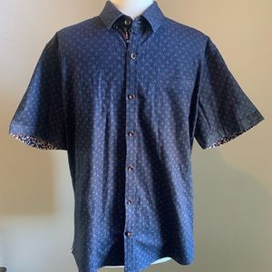 Same Old Blues Slim Fit Short Sleeve Button-Up